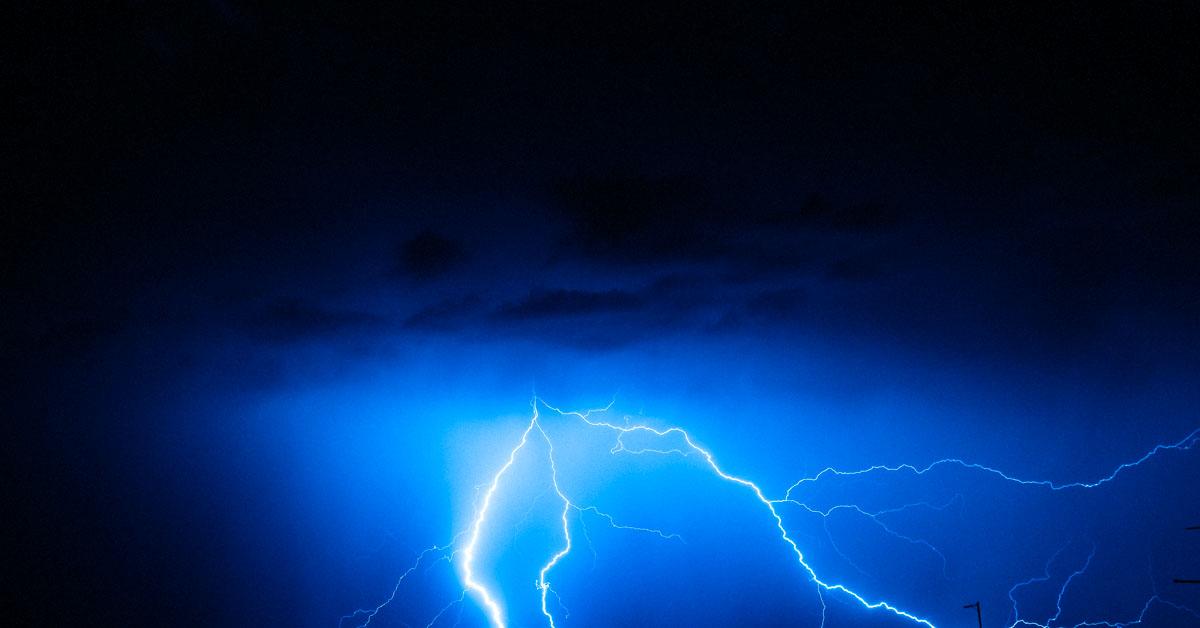 blixt med el